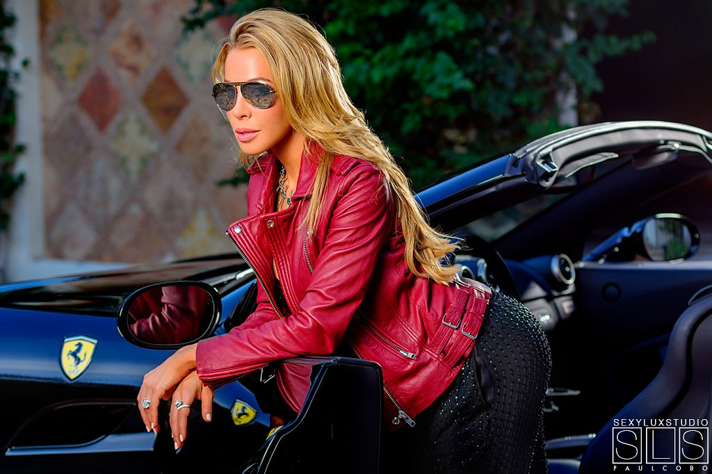 Lisa Hochstein Ferrari shoot