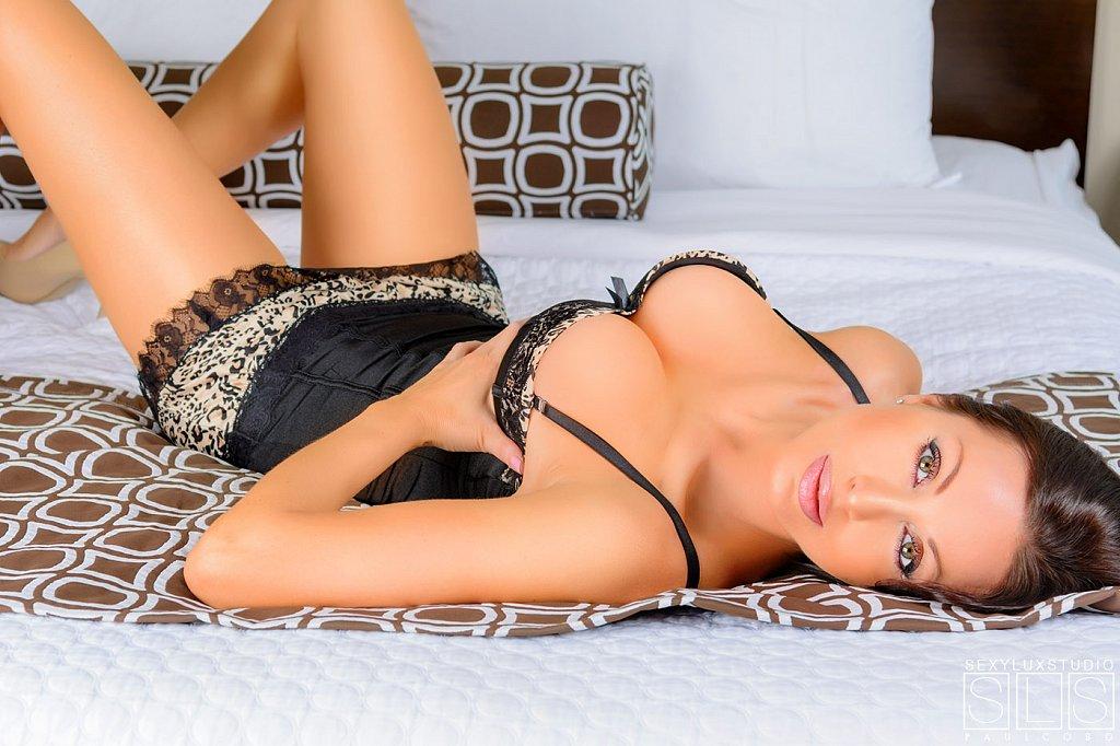 Luxury lingerie bed shoot