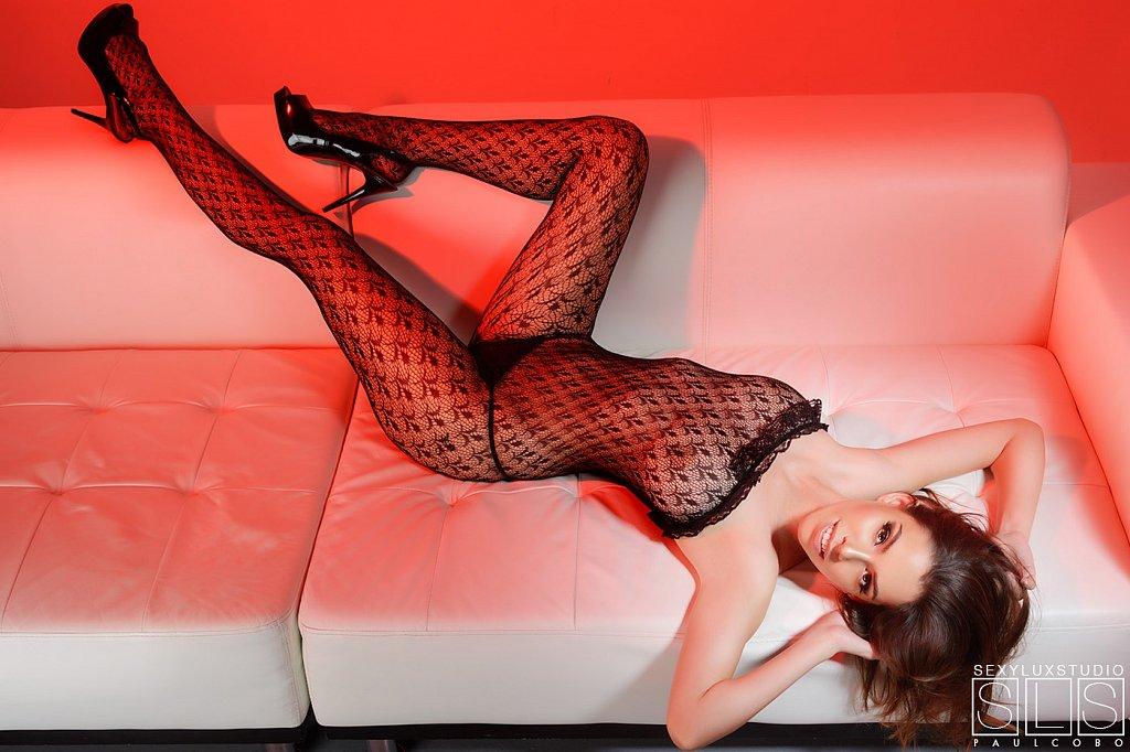 Elegant sexy lingerie shoot
