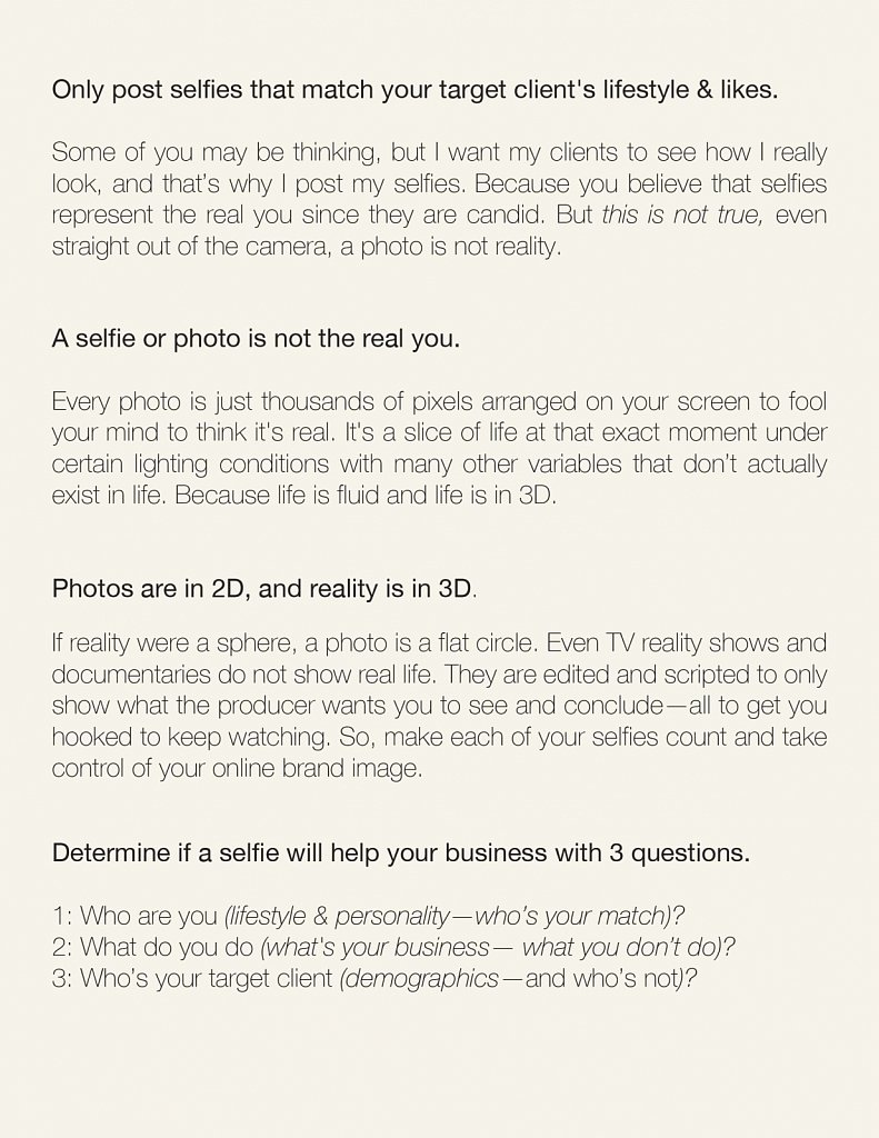 10 tips Selfies for SIte